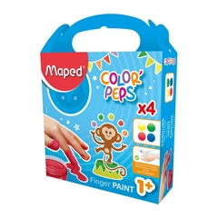 Prstne barve Maped, 4 kosi