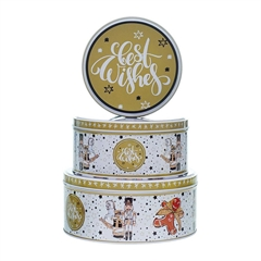 Darilna kovinska škatla za piškote Best Wishes, 3/1
