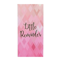 Blok z lističi Reminder, mali, roza, 80 l