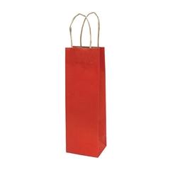 Darilna vrečka natron za steklenico, eko, rdeča