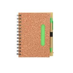 Beležnica Corc s špralno vezavo in kemičnim svinčnikom, eko