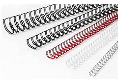 Žične špirale GBC, 6 mm (3:1), bela