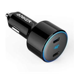 Polnilec za avto USB-C Anker PowerDrive PowerDrive+ III Duo, črna