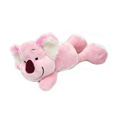 Plišasta igrača, ležeča koala, 20 cm, roza