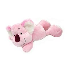 Plišasta igrača, ležeča koala, 30 cm, roza