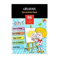 Pobarvanka Creative z risbami za spodbujanje otroških spretnosti, 96 listov