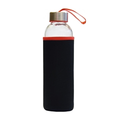 Steklenica Stream, 500 ml, črno rdeča