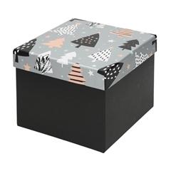 Darilna škatla Creative, 22 x 22 x 16 cm, božično drevo