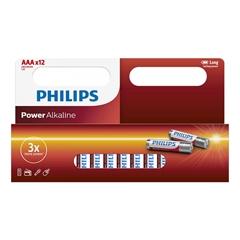 Baterija Philips Power Alkaline AAA-LR03, 12 kosov