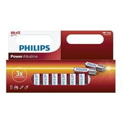 Baterija Philips Power Alkaline AA-LR6, 12 kosov