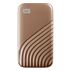 Zunanji prenosni disk WD My Passport SSD USB-C, 1 TB, zlata