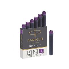 Črnilni vložek Quink Parker mini, vijoličen, 6 kosov