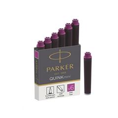 Črnilni vložek Quink Parker mini, roza, 6 kosov