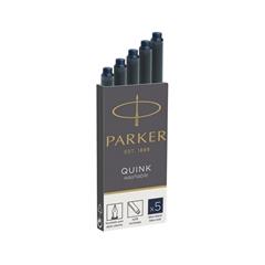 Črnilni vložek Quink Parker, permanent, moder, 5 kosov