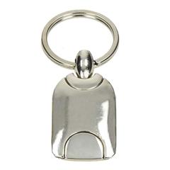 Kovinski obesek za ključe, srebrni