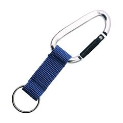 Obesek za ključe s karabinom, moder