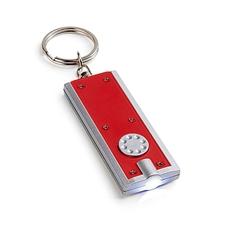 Obesek za ključe Rect s svetilko, rdeč
