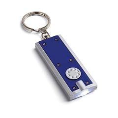 Obesek za ključe Rect s svetilko, moder