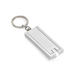 Obesek za ključe Rect s svetilko, siv