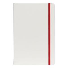 Beležnica Flux White, A5, rdeča, 96 listov