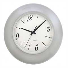 Stenska ura, 25 cm, bela
