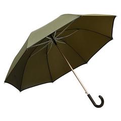 Golf dežnik Galant, z usnjenim ročajem, rjav