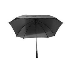 Golf dežnik Lira, s penastim ročajem, črn