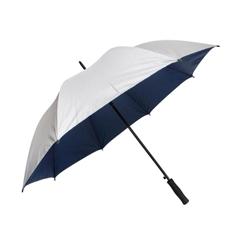 Golf dežnik Pan, s penastim ročajem, siv