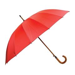 Dežnik Astar, z lesenim ročajem, rdeč