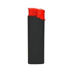 Vžigalnik Atomic F2, z gumiranim oprijemom, rdeč
