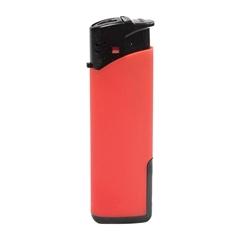 Vžigalnik Atomic Turbo, z gumiranim oprijemom, rdeč