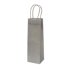 Darilna vrečka natron za steklenico, eko, siva