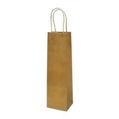 Darilna vrečka natron za steklenico, eko, rjava