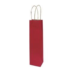 Darilna vrečka natron za steklenico, eko, temno rdeča