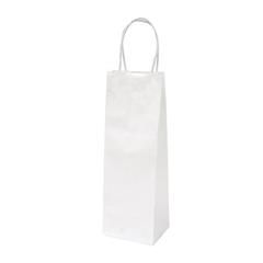 Darilna vrečka natron za steklenico, eko, bela