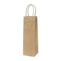 Darilna vrečka natron za steklenico, eko, rjava (71334)