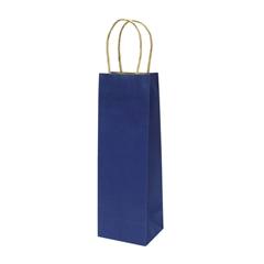 Darilna vrečka natron za steklenico, eko, modra