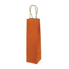 Darilna vrečka natron za steklenico, eko, oranžna