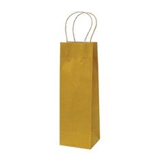 Darilna vrečka natron za steklenico, eko, rumena