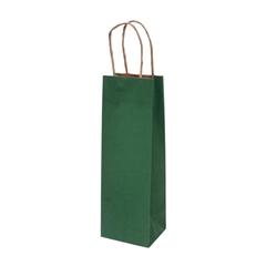 Darilna vrečka natron za steklenico, eko, temno zelena