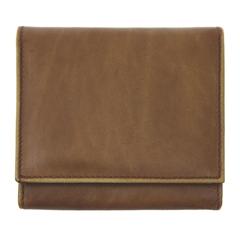 Moška denarnica Galko 78622, usnjena, rjava