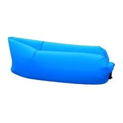 Napihljiva ležalna blazina Laybag, modra