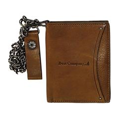 Moška usnjena denarnica 78547, rjava