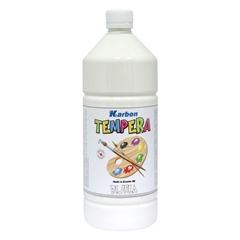 Tempera barva Karbon, bela, 1 L