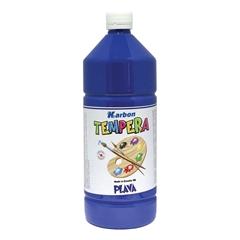 Tempera barva Karbon, modra, 1 L