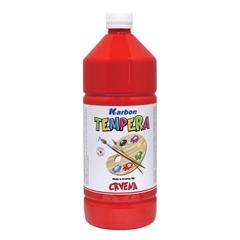 Tempera barva Karbon, rdeča, 1 L