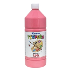 Tempera barva Karbon, roza, 1 L