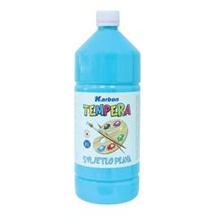 Tempera barva Karbon, svetlo modra, 1 L