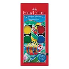 Vodene barvice Faber-Castell, 12 kosov