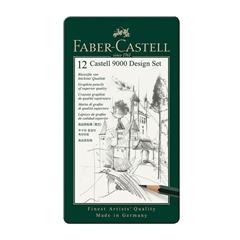 Grafitni svinčnik Faber-Castell 9000, 12 kosov